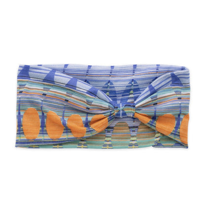 Women's Pistil Edie Multi color jersey material headband in Sapphire
