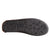Women's Faux Fur Collar Slippers in Black Bottom Sole Tread