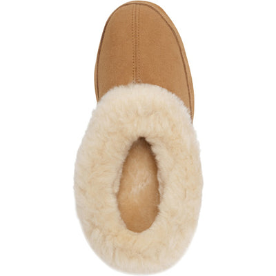 Women's Oh Ewe Boot Slippers in Walnut Inside Top View