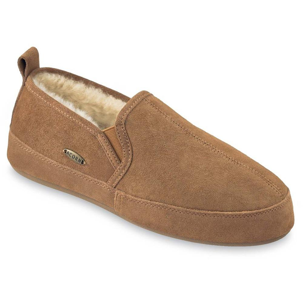 Acorn Men's Shearling Romeo Slippers in Walnut Angle View