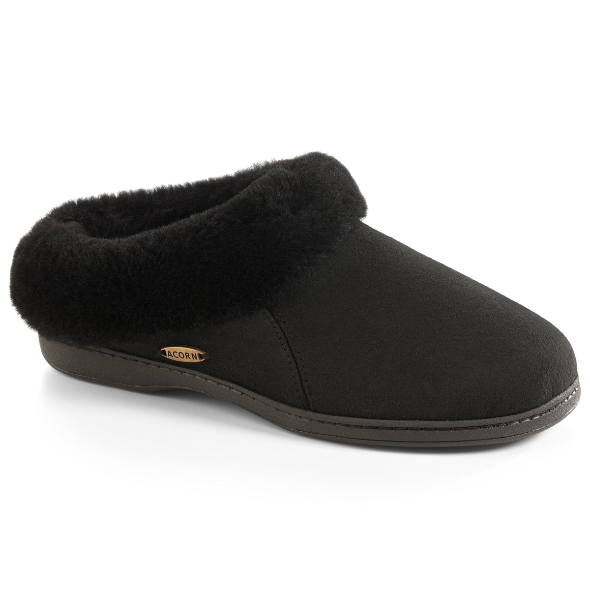 Acorn Women's Shearling Collar Slippers