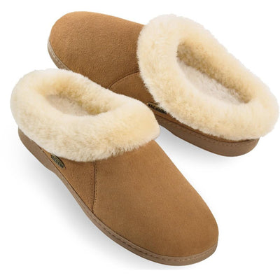 Acorn Women's Shearling Collar Slipper in Cognac