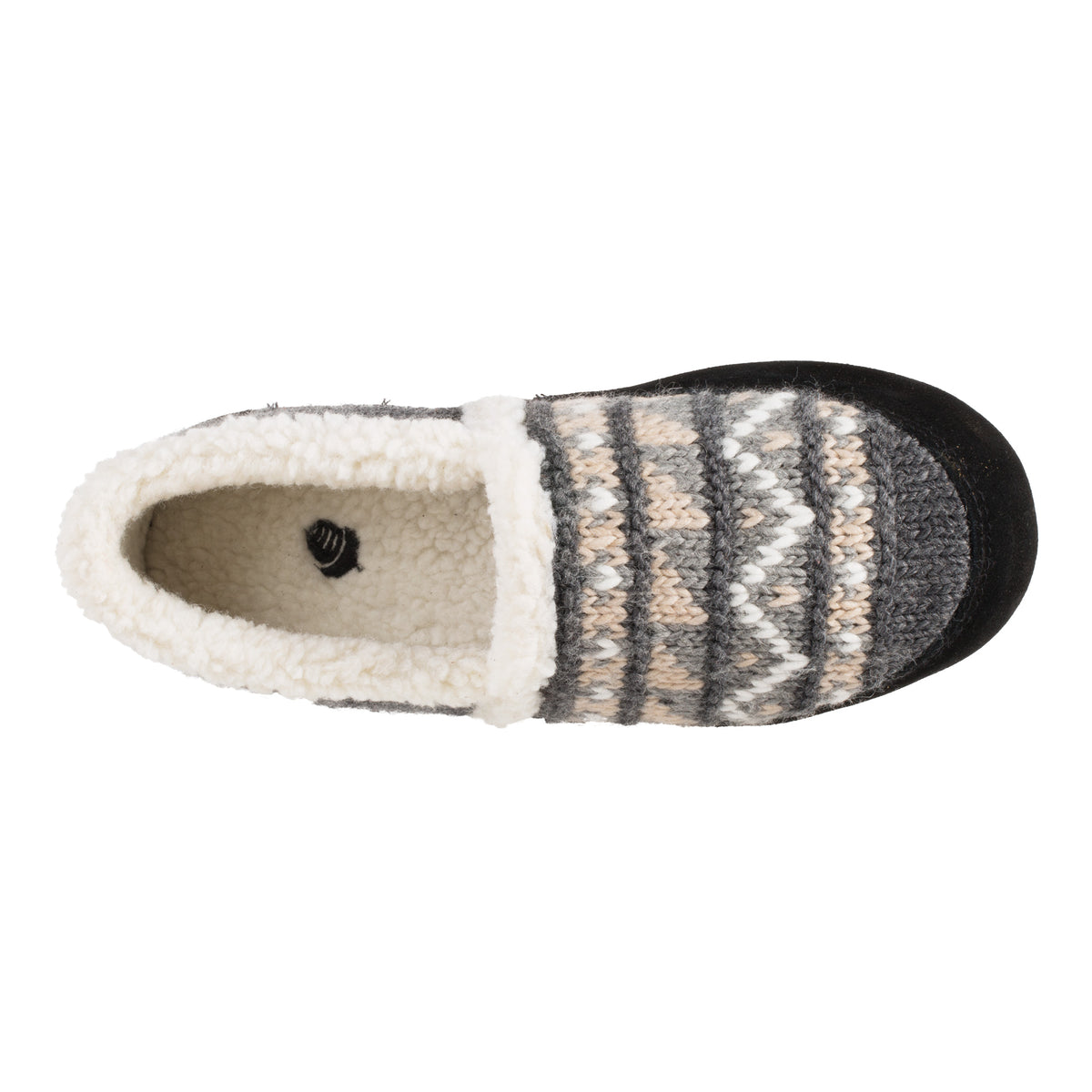 Acorn Nordic Moccasin Slipper Nordic Blue Top View