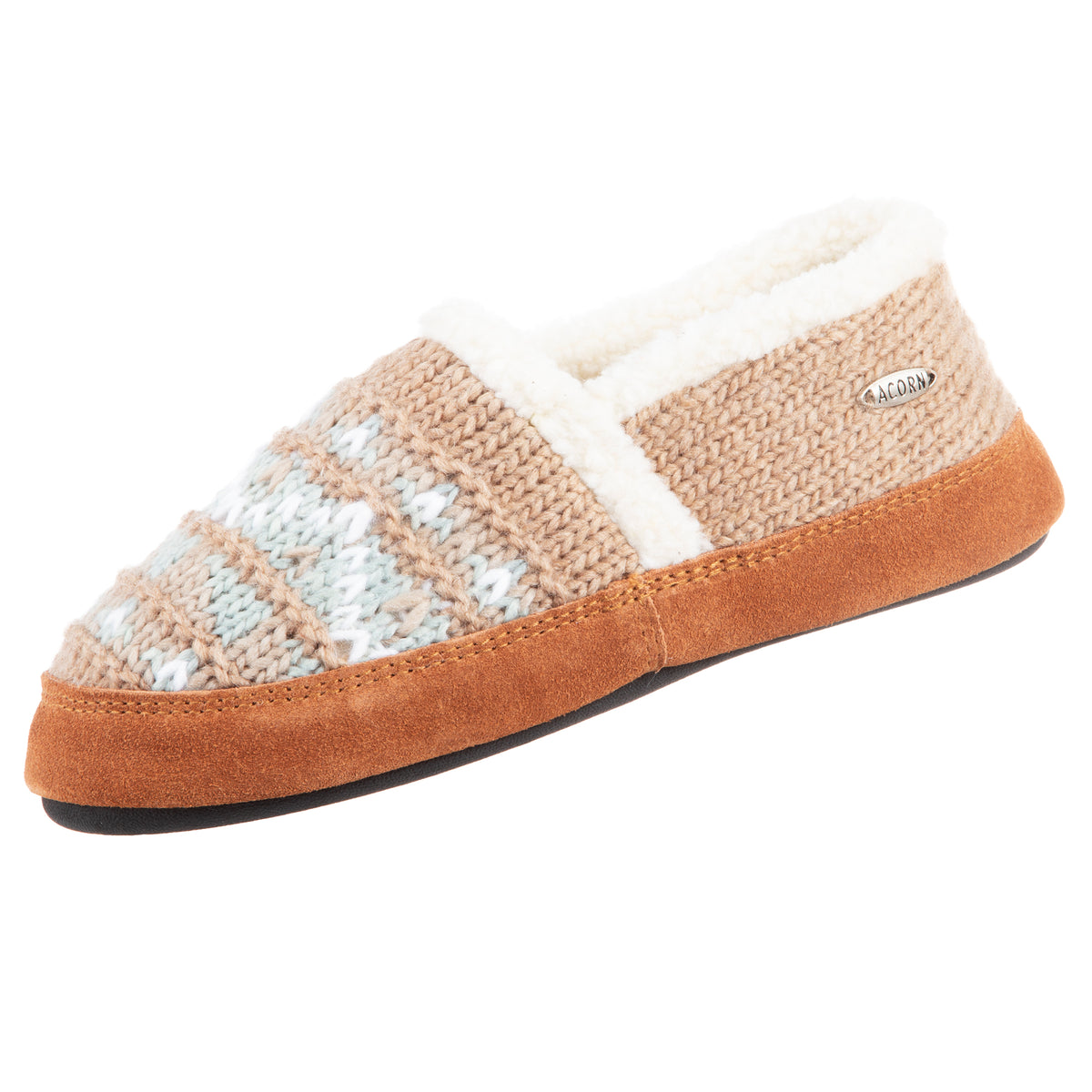 Nordic Oatmeal Heather Acorn Slipper