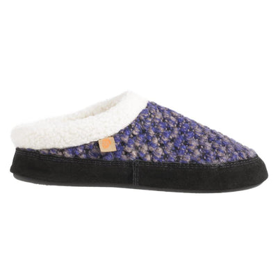 Acorn Jam Mule Slipper in Blueberry Side Profile View