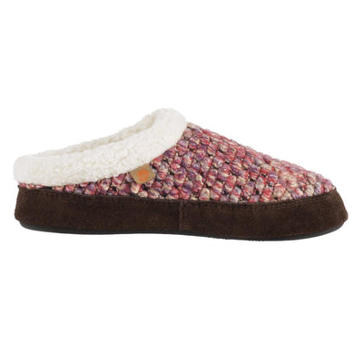 Acorn Jam Mule Slipper In Raspberry Color Side View