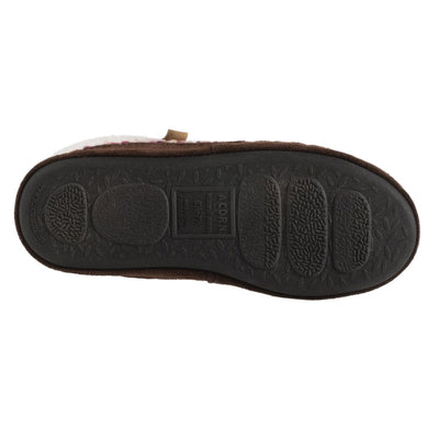 Acorn Jam Mule Slipper In Raspberry Color Bottom Sole Tread