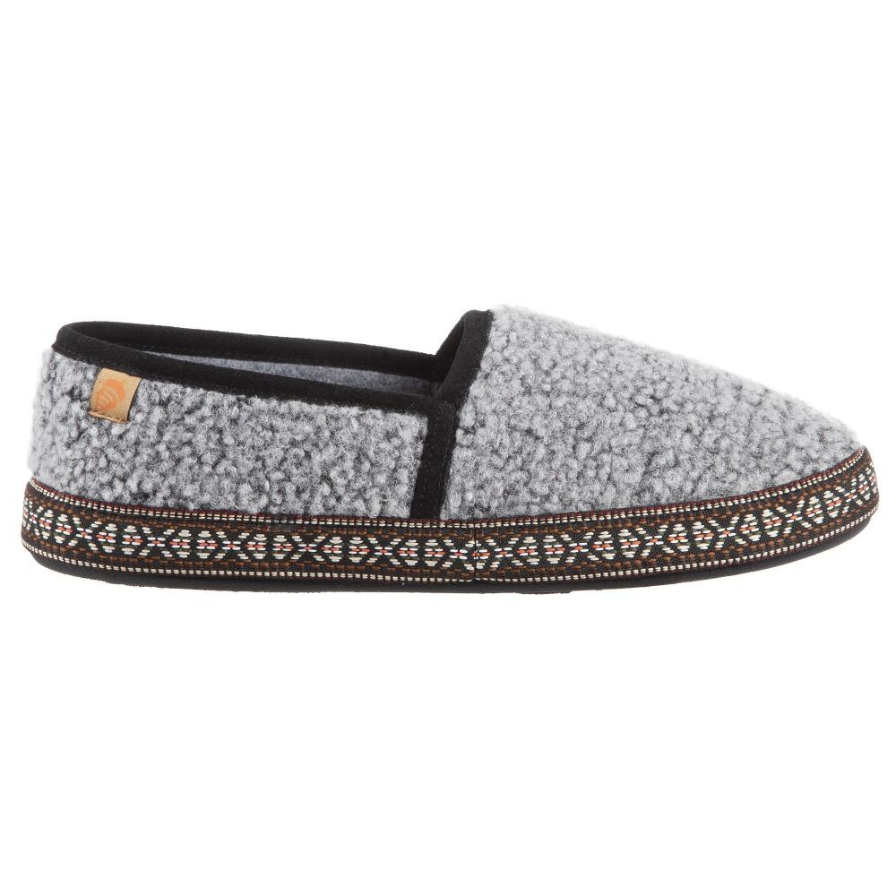 Women's Woven Trim Moccasins in Stormy Grey Profile