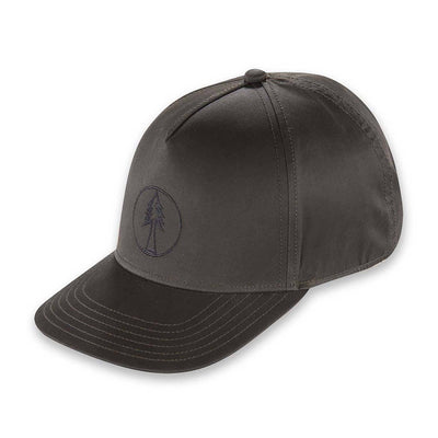 Men's Pistil Timber Trucker Cap with fir tree embroidered on front panel and adjustable closure in the back in Brown