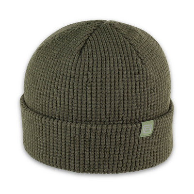 Men's Pistil Tinh Beanie with waffle knit in Olive