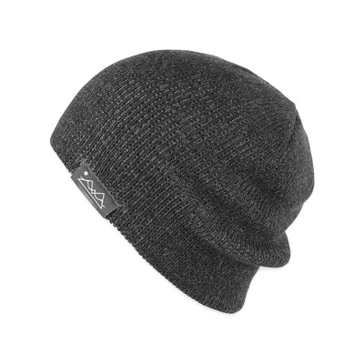 Men's Pistil Chico Slouch Knit Beanie in Charcoal
