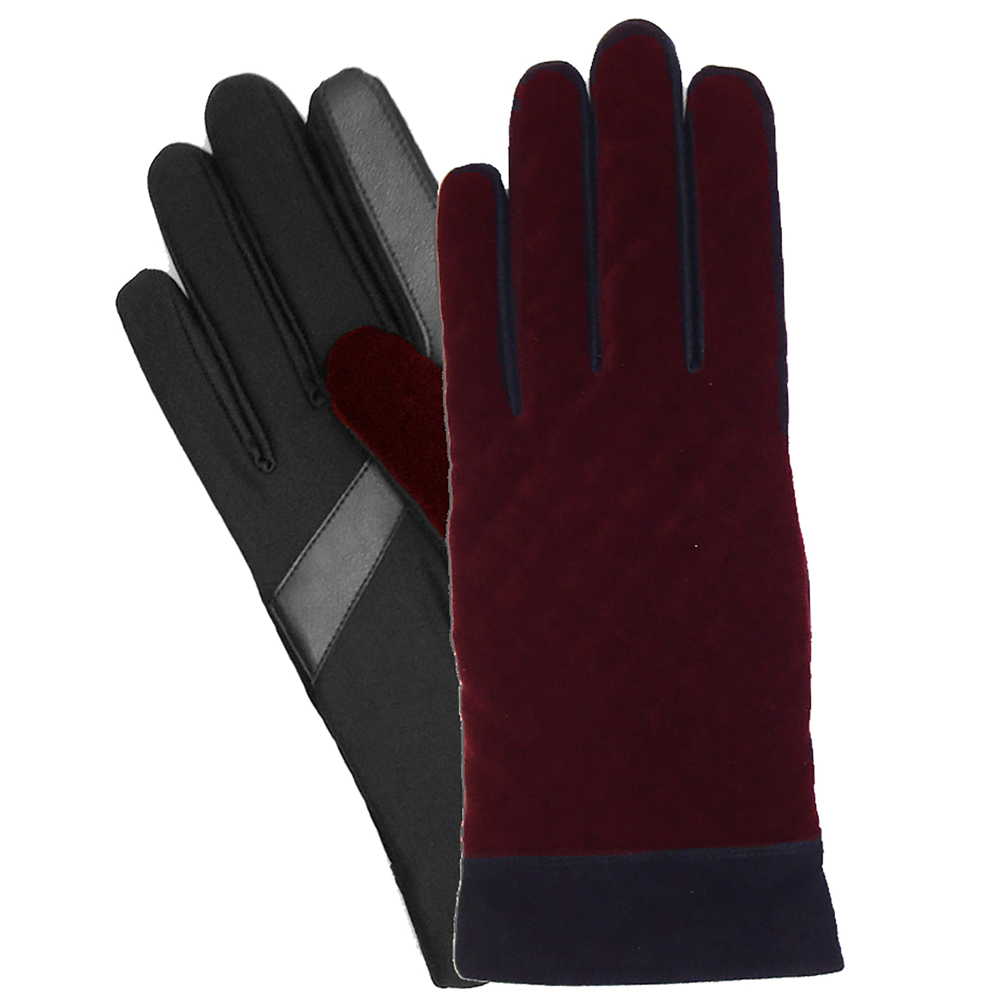 Isotoner Women's SmarTouch Textured Velvet Gloves