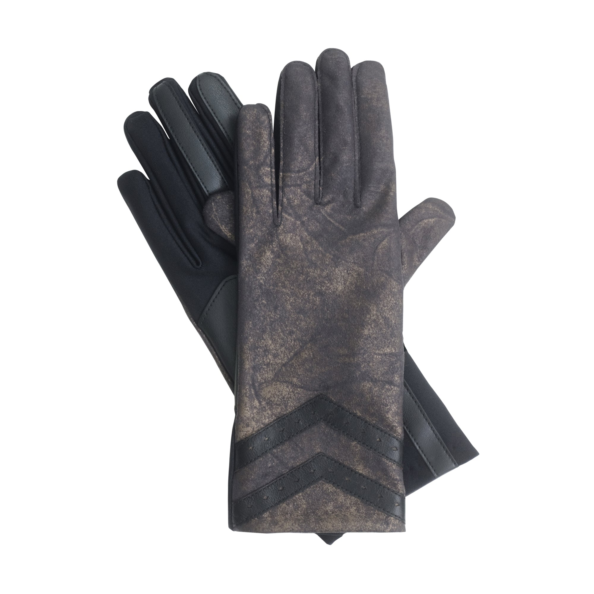 Isotoner Women's SmarTouch Stretch Faux Nappa Metallic Gloves
