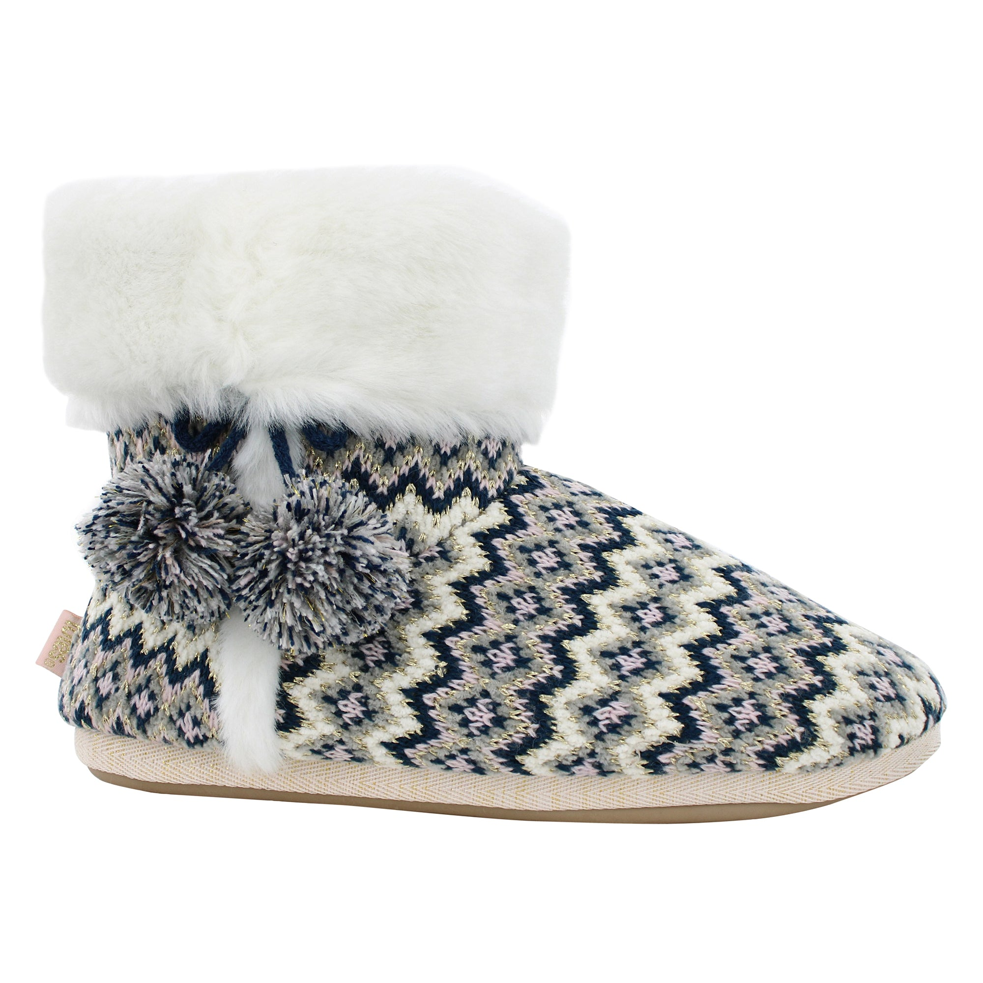 totes toasties™ Fairisle Knitted Booties