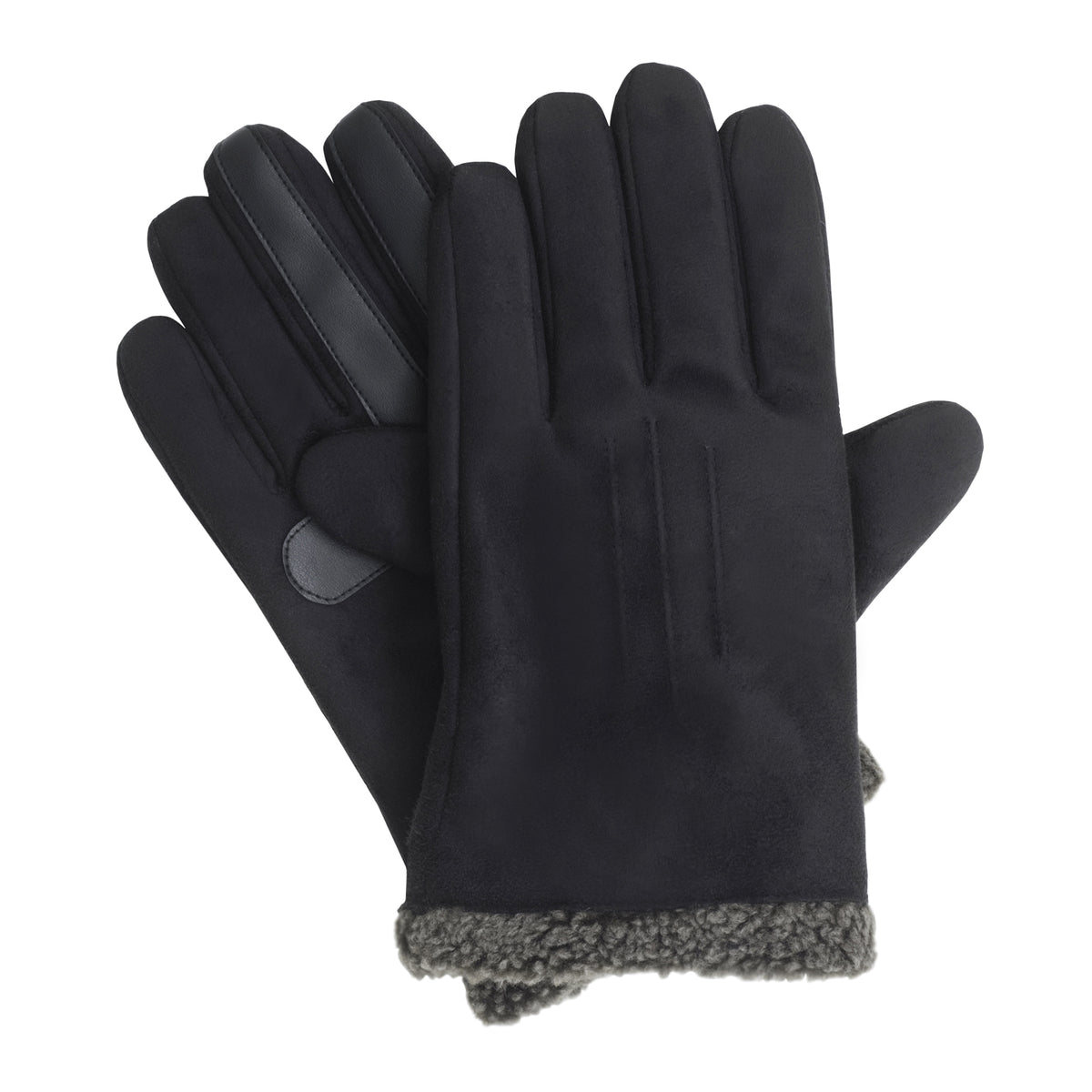 Isotoner Men's SmarTouch Faux Suede Gloves