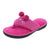 Isotoner Women's Heathered Jersey Flo Thong Slippers with Memory Foam