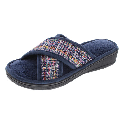 isotoner Women's Microterry Nikki Novelty Tweed X-Slide Slippers