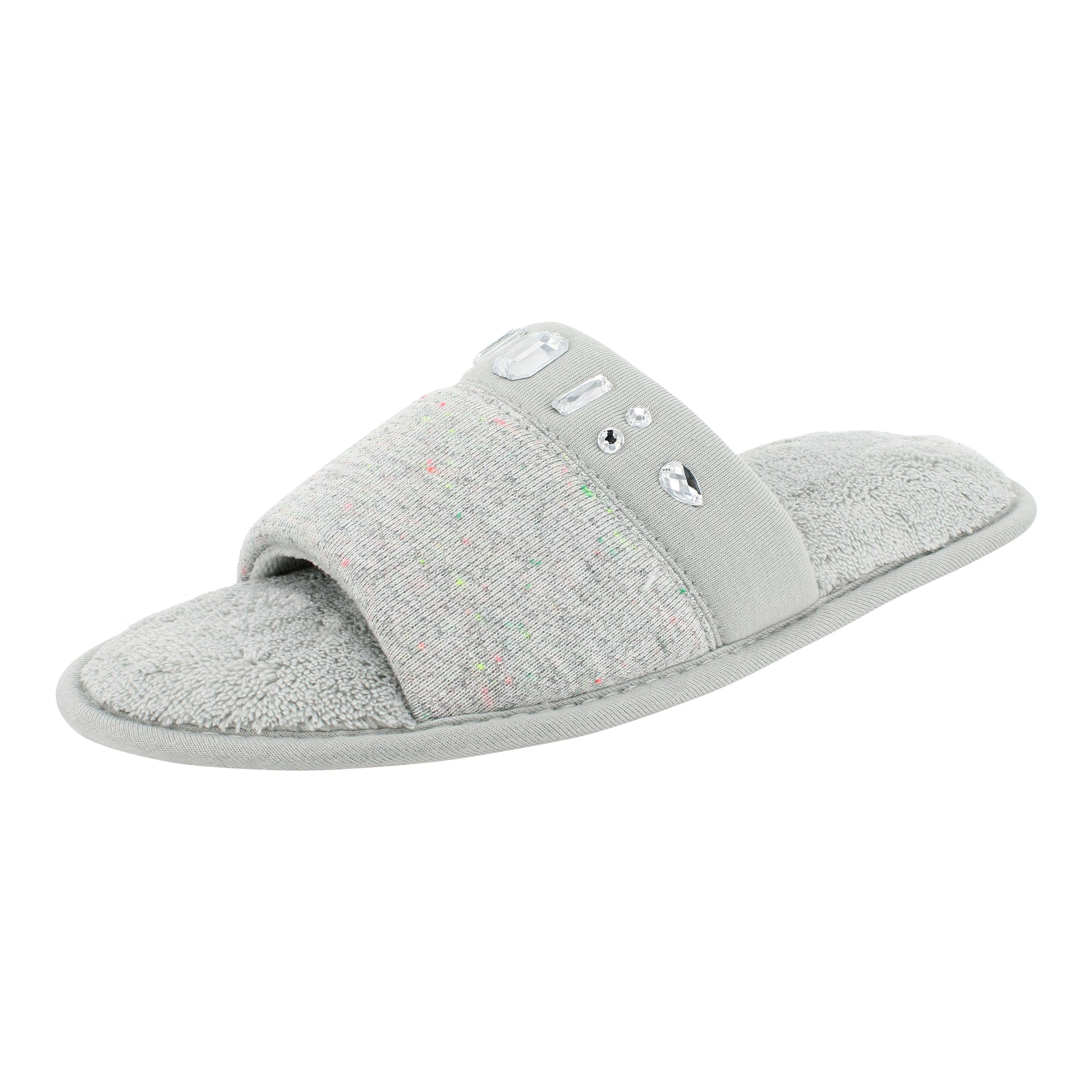 Isotoner Speckle Knit Open Toe Slide