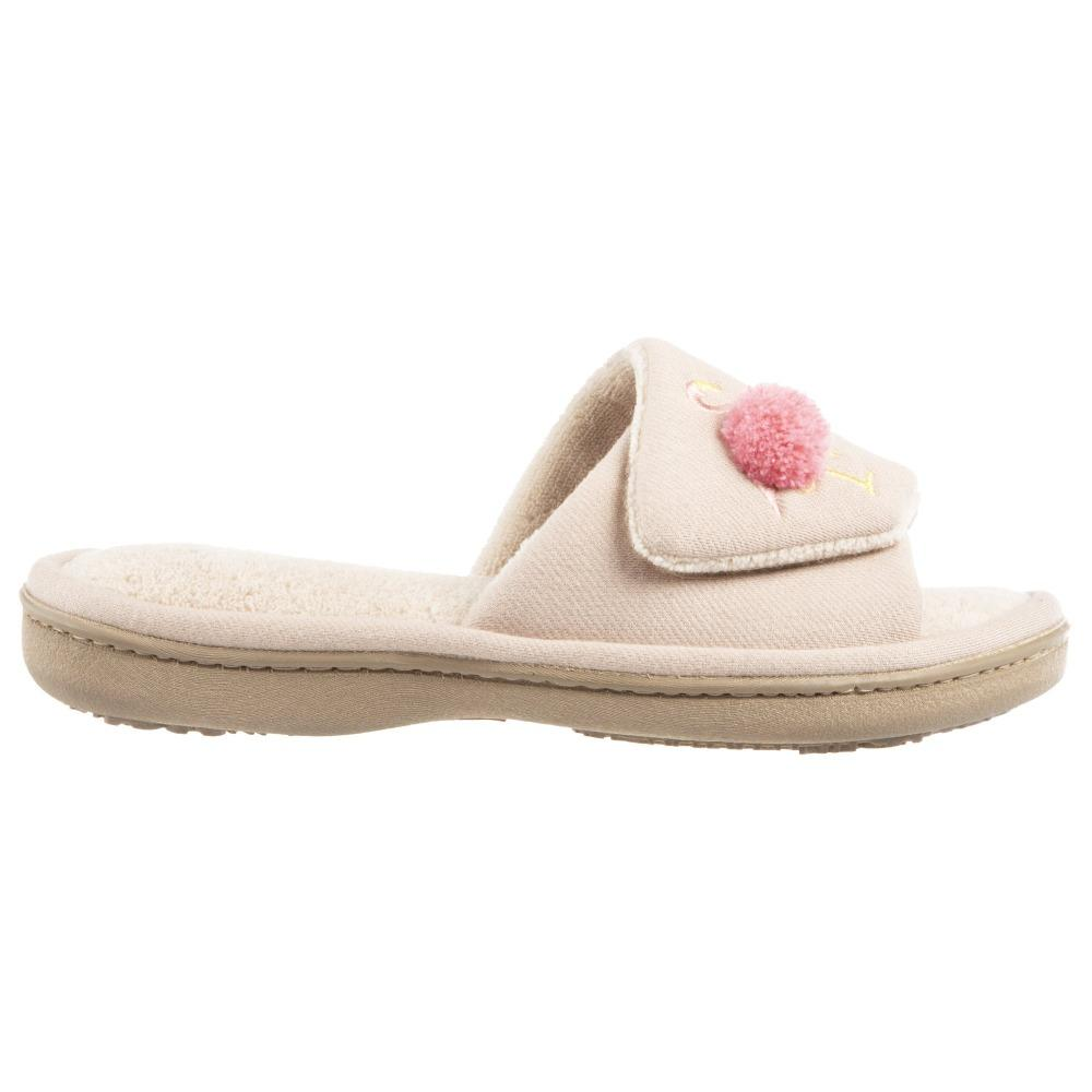 Women's Isabella Adjustable Slide Slippers in Sand Trap Pink Profile View