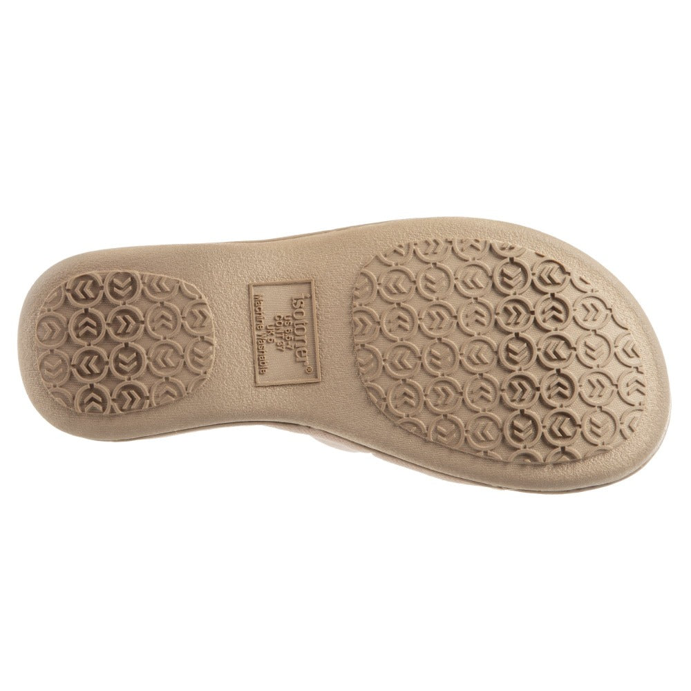 Women's Isabella Adjustable Slide Slippers in Sand Trap Bottom Sole Tread