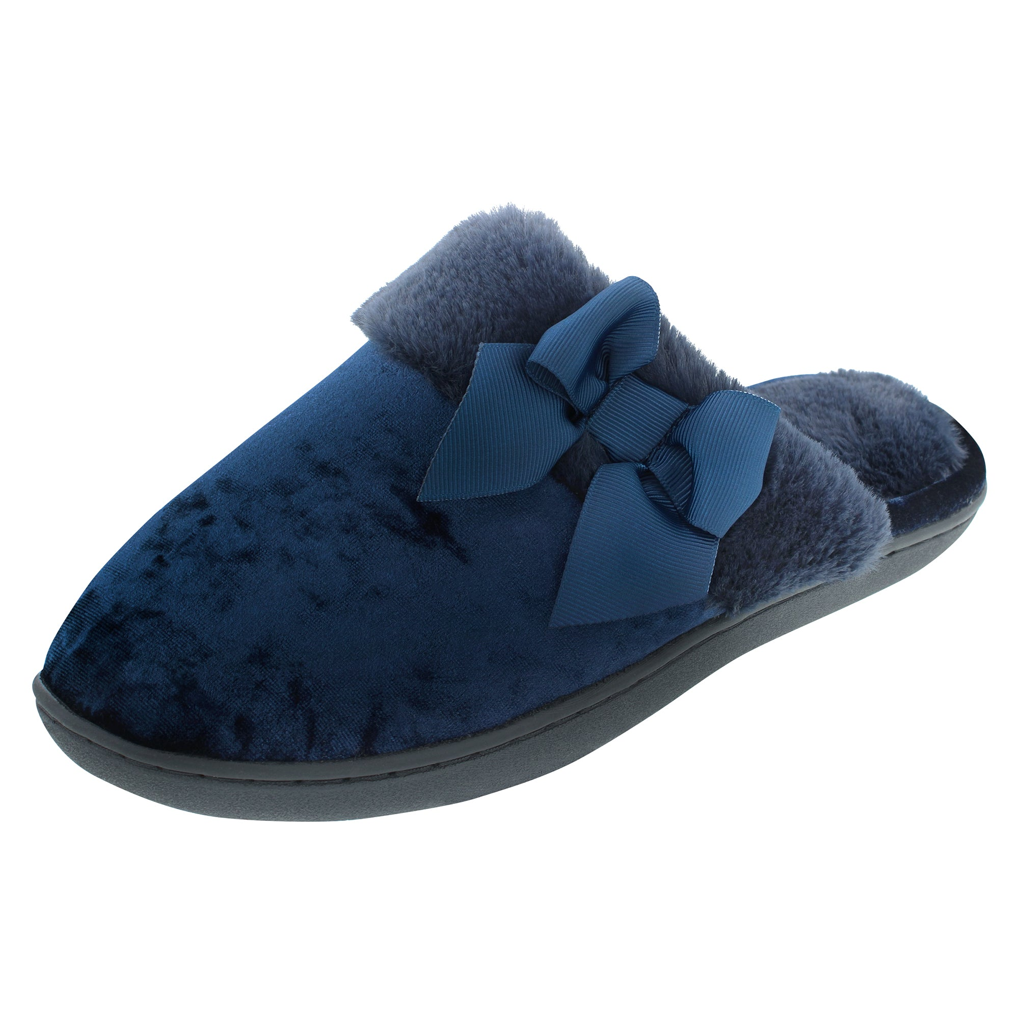 Isotoner Velour Clog with Memory Foam