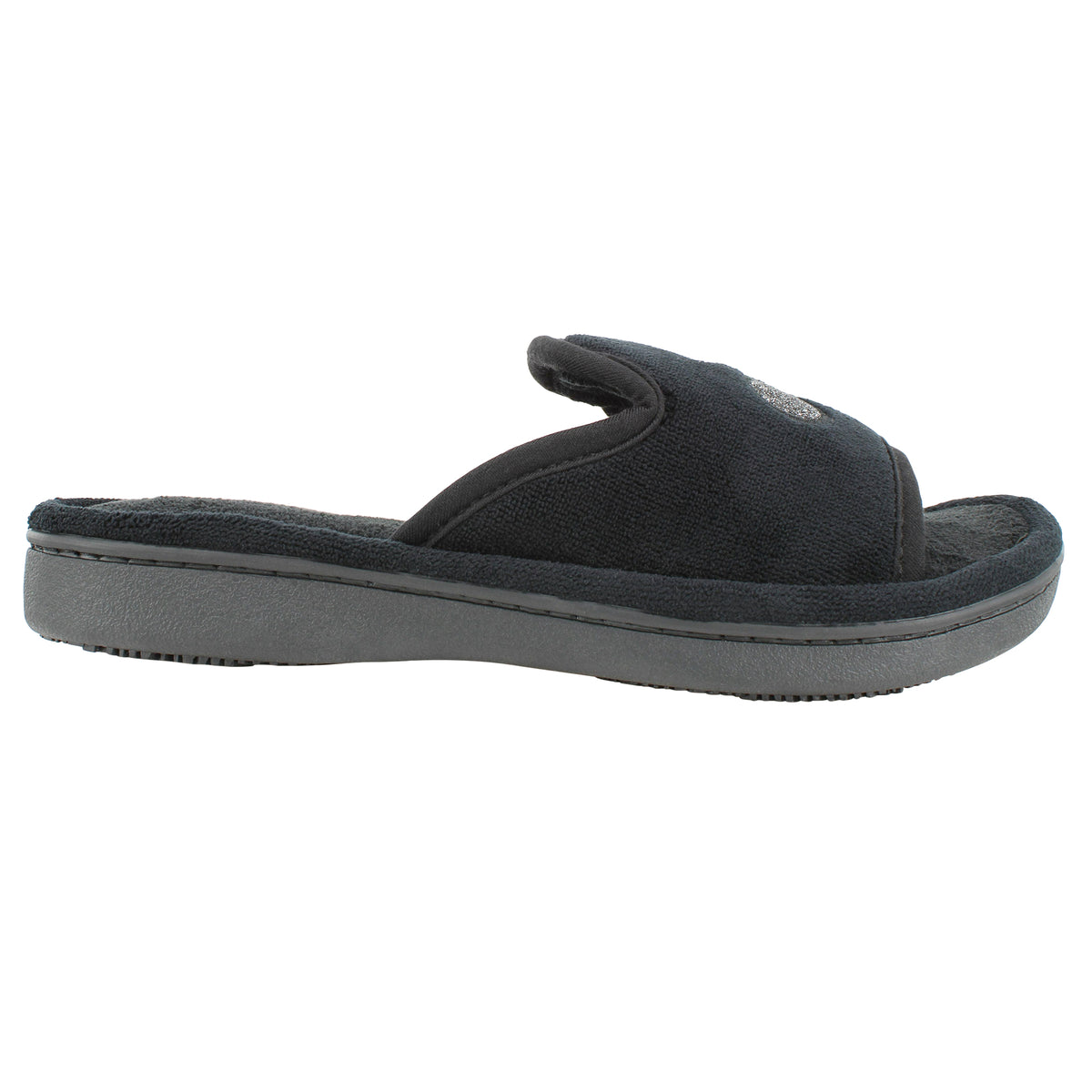Isotoner MICRO-TERRY Open-Toe Slide with Memory Foam