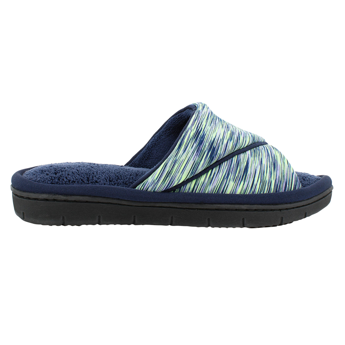 Isotoner SPACE DYE KNIT Open-Toe Slide 360° Surround Comfort™ Memory Foam