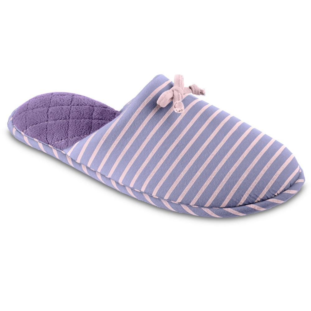 Isotoner Women's Nani Stripe Clog Slippers