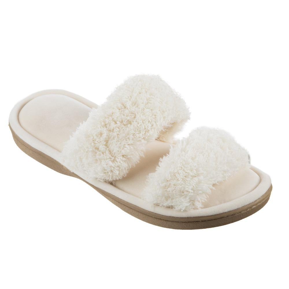 Women's Parker Chenille 2-Band Slide Slippers in Ewe Quarter View