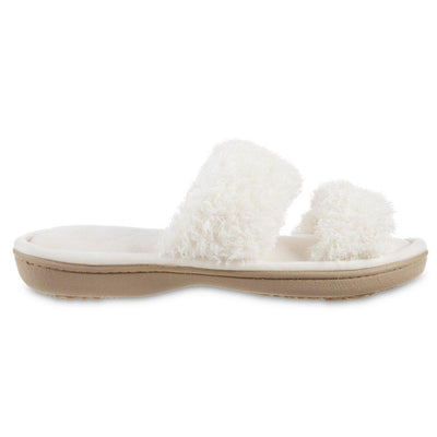 Women's Parker Chenille 2-Band Slide Slippers in Ewe Side Profile View