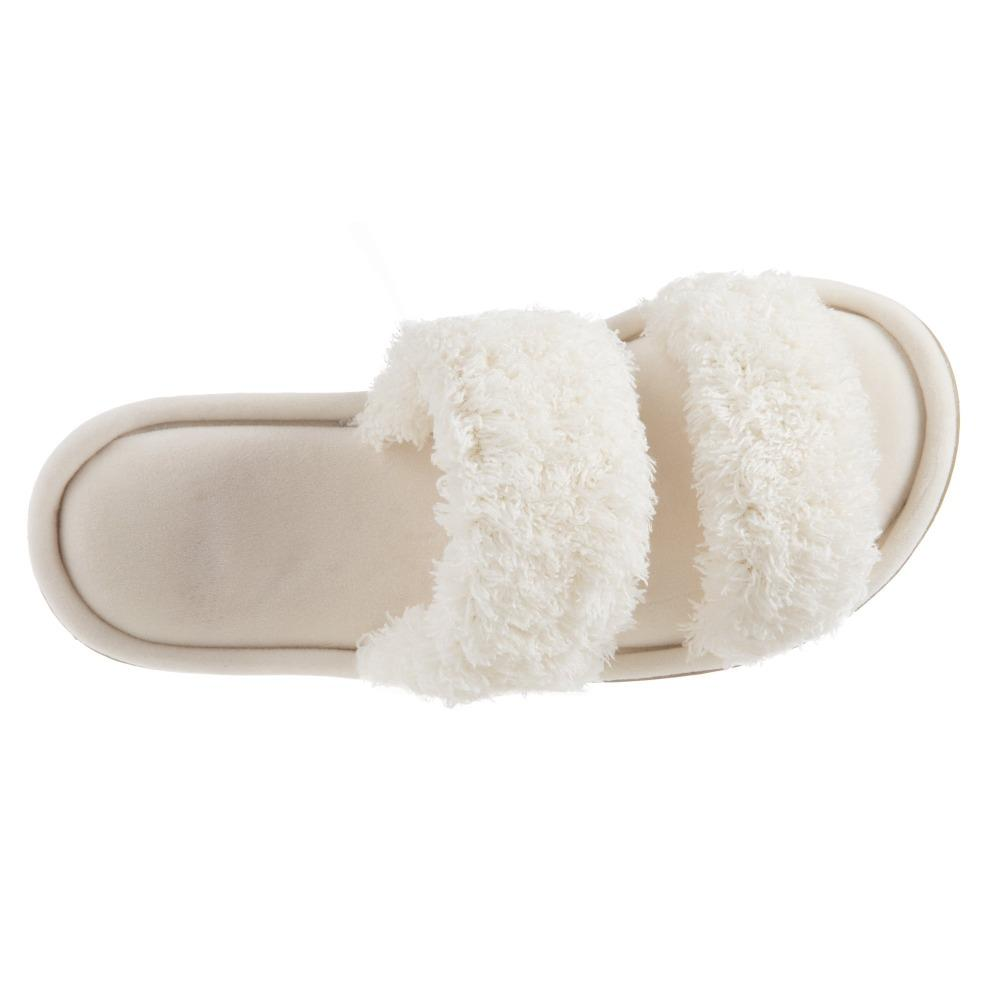 Women's Parker Chenille 2-Band Slide Slippers in Ewe Top View