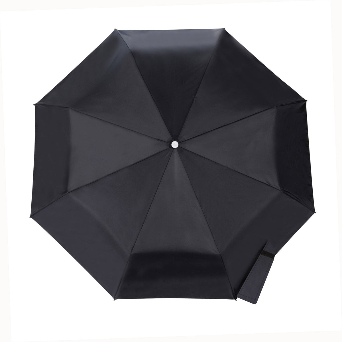 totes Automatic Classic Compact SunGuard and NeverWet Umbrella black top view open