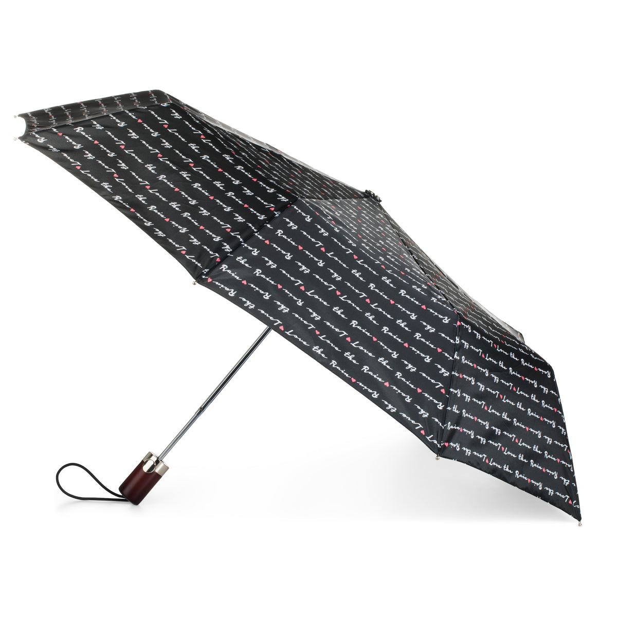 Limited-Edition Auto Open Umbrella NeverWet® love letter side view open