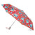 totes Auto Open/Close NeverWet® Compact Umbrella Library Floral  side view