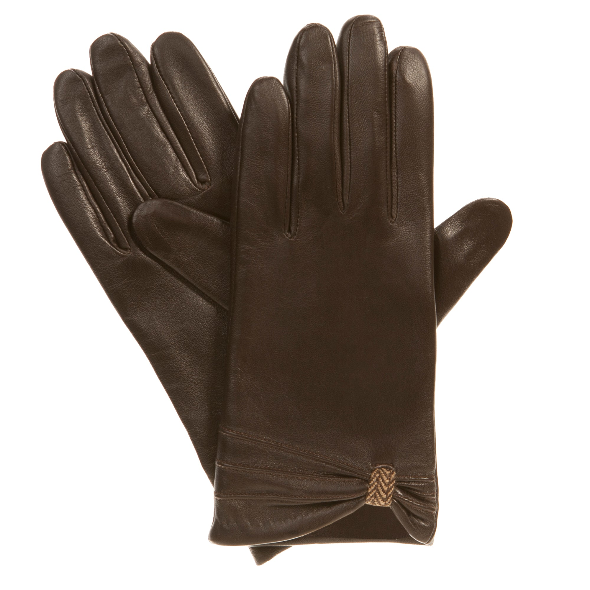 Isotoner Women's Novelty Leather Gloves with Cinch - Fleece Lined