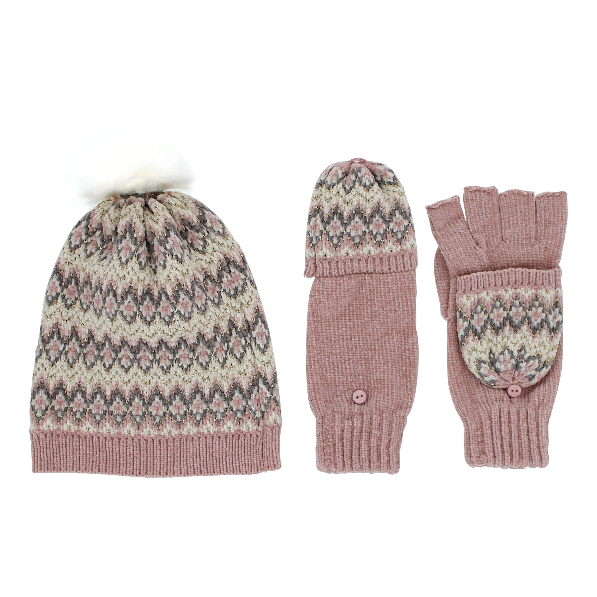 totes toasties™ Chenille Hat with Mittens