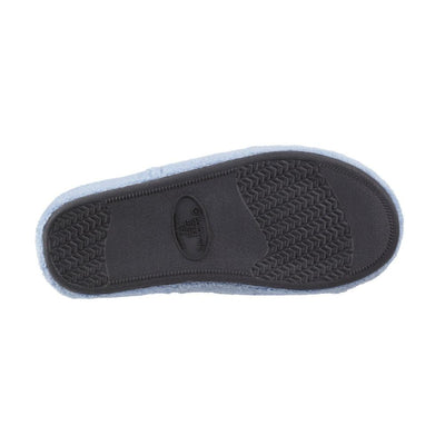 Signature Women's Microterry Spa Slide Slippers Blue Moon Sole View
