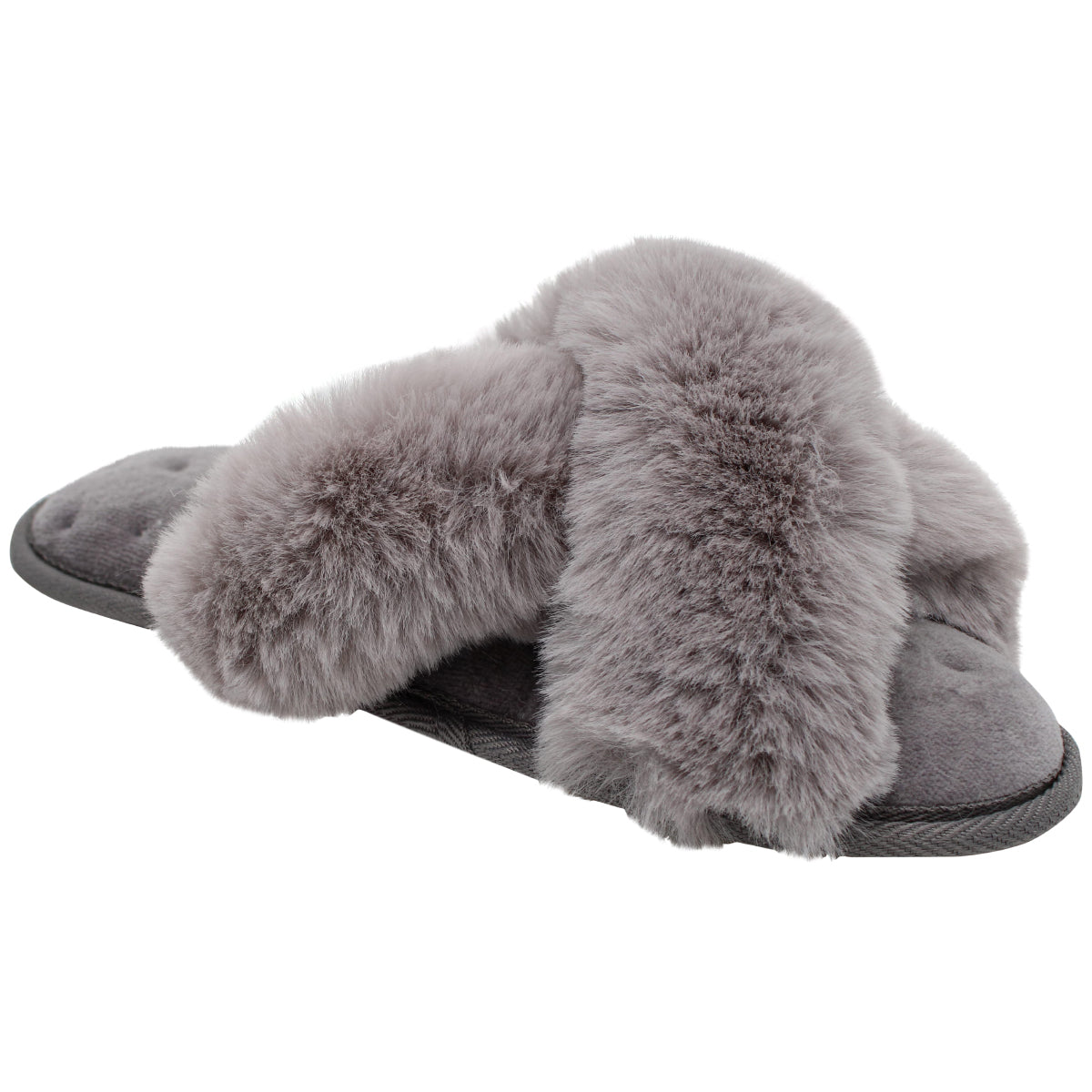 totes toasties™ Women's Faux Fur Cross Front Slide Slippers