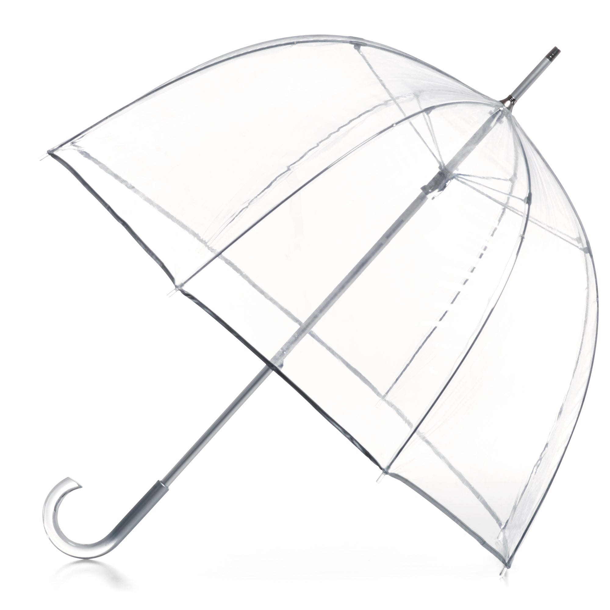 Signature Clear Bubble Umbrella open side view