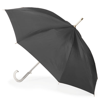 totes Automatic SunGuard™ and NeverWet® Stick Umbrella black stick umbrella side view