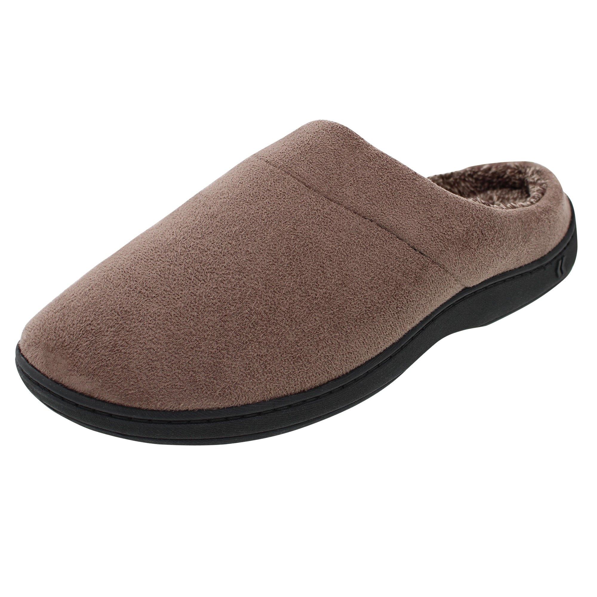 Isotoner Men's Microsuede Hoodie Slippers with Memory Foam