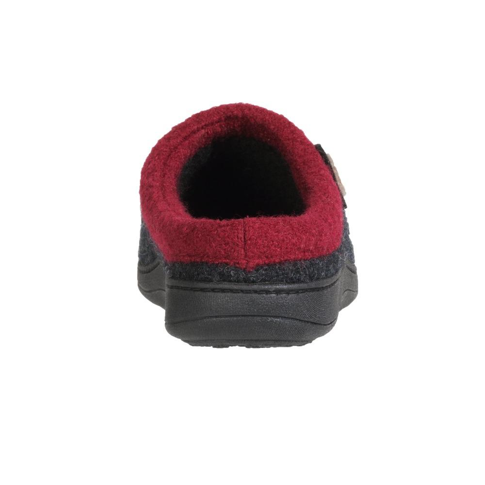 Women's Dara Boiled Wool Slippers in Charcoal Button Back Heel