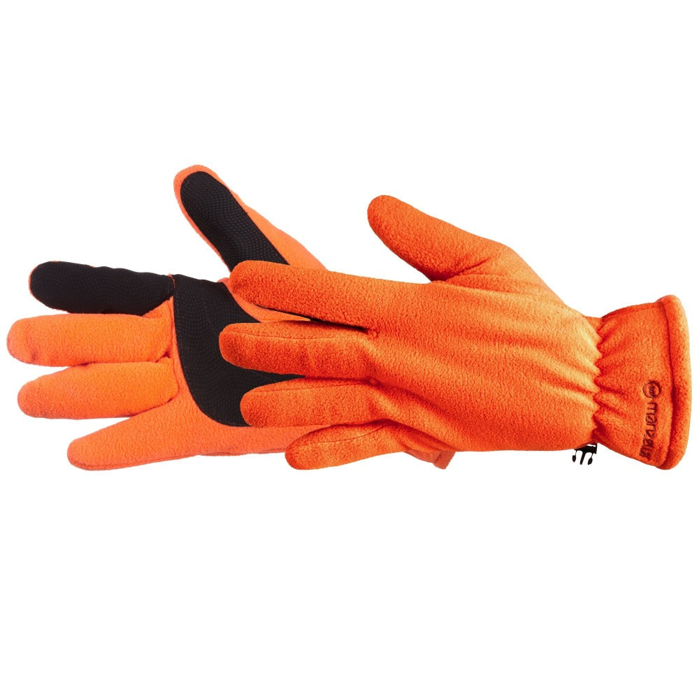 Men's Hunter Fleece Gloves in Blaze Orange Side Profile