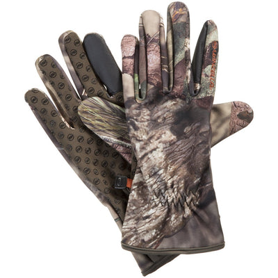 Men's Whitetail Bow Touchtip Gloves in Mossy Oak Pair Side Profile