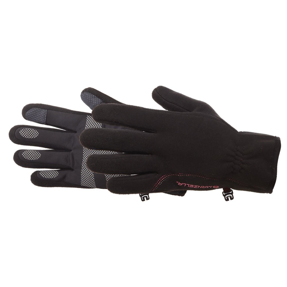 Manzella Women's Tempest Windstopper Gloves in Black on Side Profile