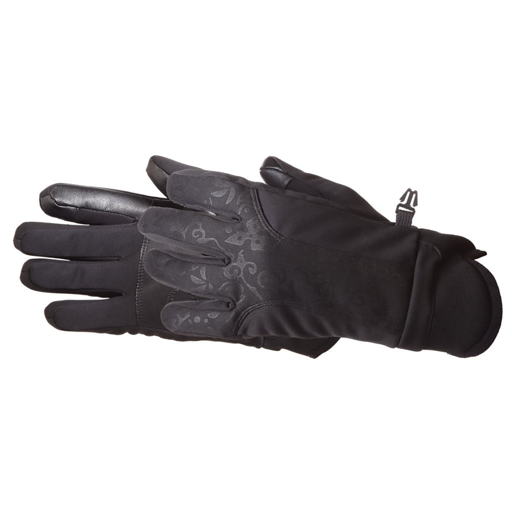 Women's Get Intense Touchtip Gloves in Black Pair Side Profile