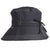 Women's Bow Rain Hat in Black Side Profile
