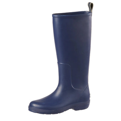 Cirrus™ Women's Claire Tall Rain Boots in Navy Blue Left Angled View