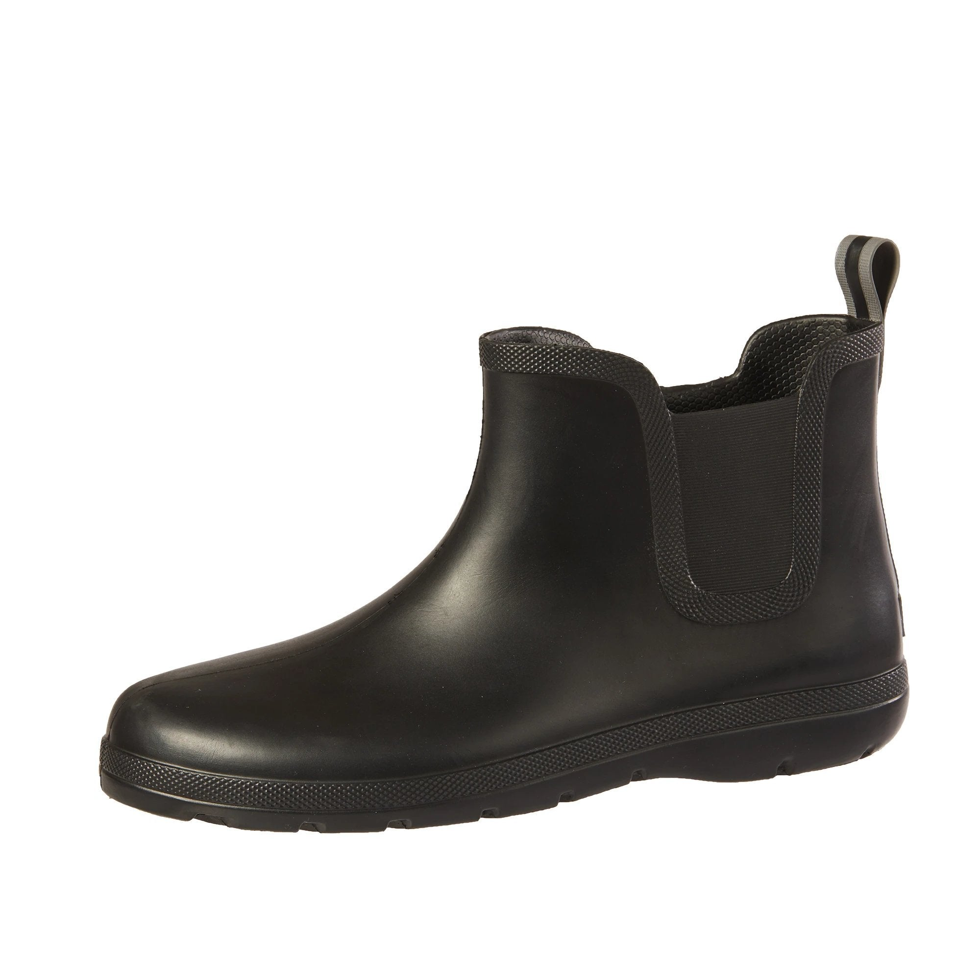 Cirrus™ Men's Chelsea Ankle Rain Boot in Black Left Angled View