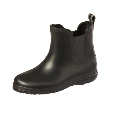 Cirrus™ Kid's Chelsea Ankle Rain Boot in Black Left Angled View